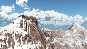 pomarańczowy górski filtra panorama niebios ilustracja wektor