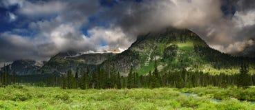 pomarańczowy górski filtra panorama niebios Obraz Stock