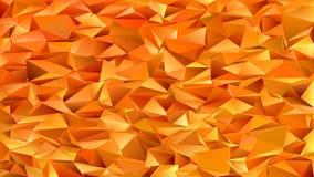 Pomarańczowy geometryczny abstrakcjonistyczny chaotyczny trójboka wzoru tło - mozaika wektorowy graficzny projekt od barwionych t Obrazy Stock