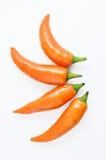 Pomarańczowy gorący chili Obrazy Stock