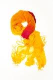 Pomarańczowy i żółty szalik Zdjęcia Royalty Free