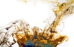 Pomarańczowy i błękitny energetyczny abstrakcjonistyczny płomienia tło Obrazy Stock