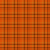 Pomarańczowy i Czarny szkockiej kraty tkaniny tło Zdjęcia Royalty Free