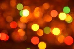 Pomarańczowy i czerwony bokeh Tło z boke struktura abstrakcyjna Kolorów okręgi Obraz Royalty Free