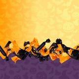 Kolorowy Halloweenowy cukierku tło Obrazy Stock