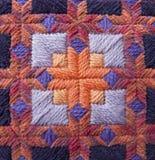 Pomarańczowy i Purpurowy Needlepoint szczegół Zdjęcie Stock