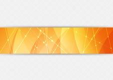 Pomarańczowy jaskrawy techniki tło Obrazy Stock