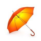Pomarańczowy jesień parasol odizolowywający na białym tle ilustracja 3 d royalty ilustracja
