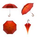 Pomarańczowy jesień parasol odizolowywający na białym tle ilustracja 3 d ilustracja wektor