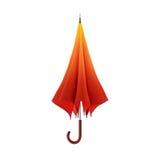 Pomarańczowy jesień parasol odizolowywający na białym tle ilustracja 3 d ilustracji