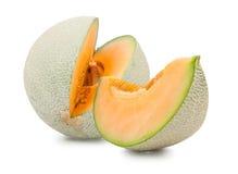 Pomarańczowy kantalupa melon odizolowywający fotografia royalty free