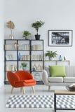 Pomarańczowy karło w żywym pokoju zdjęcie royalty free