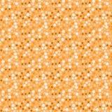 Pomarańczowy kolorowy geometryczny bezszwowy wzór okręgi, trójboki i kwadraty, royalty ilustracja