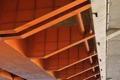 Pomarańczowy koloru most część Fotografia Royalty Free