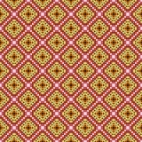 pomarańczowy kręgów tła ornament kwadratów wektora Obraz Royalty Free