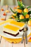 Pomarańczowy kwarka tort obrazy royalty free