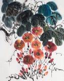 Pomarańczowy kwiat ranek chwała royalty ilustracja