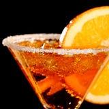 Pomarańczowy Margareta świeży koktajl odizolowywający na czerni zdjęcie royalty free