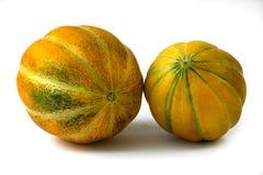 Pomarańczowy melon odizolowywający na białym tle Obraz Stock
