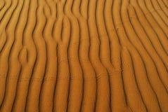 Pomarańczowy miękkiej części pustyni piasek Zdjęcia Stock