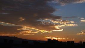 Pomarańczowy niebo w popołudniu Zdjęcia Stock