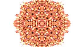 Pomarańczowy niski poli- geometryczny abstrakcjonistyczny tło jako poruszający witrażu lub kalejdoskopu skutek w 4k Pętli 3d anim zdjęcie wideo
