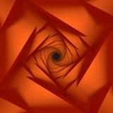 Pomarańczowy Niski Poli- Geometryczny tło Obraz Stock