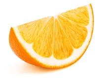 Pomarańczowy owocowy plasterek odizolowywający na bielu zdjęcia royalty free