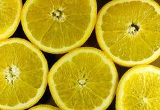 Pomarańczowy owocowy tło Zdjęcia Stock
