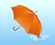 pomarańczowy parasolkę Zdjęcia Stock