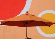 pomarańczowy parasolkę Obraz Royalty Free