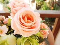 pomarańczowy pastel róży bukiet, Obrazy Royalty Free