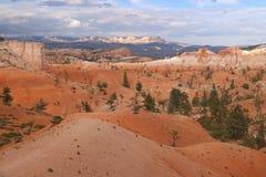Pomarańczowy piasek diuny kominów Bryka Czerwonawy czarodziejski jar zdjęcia royalty free