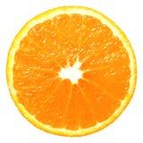 Pomarańczowy plasterek odizolowywający zdjęcie stock