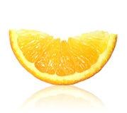 Pomarańczowy plasterka zbliżenie obraz royalty free