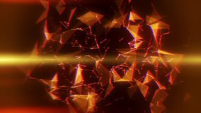 Pomarańczowy Plexus abstrakta trójboków & linii wstępu logo tło royalty ilustracja