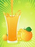 pomarańczowy pluśnięcie Obrazy Royalty Free