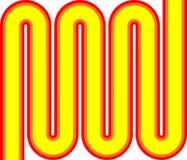 pomarańczowy pop, żółty czerwony zigzag Zdjęcia Stock