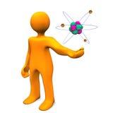 Manikin Z atomem royalty ilustracja