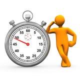 Stopwatch Manikin Fotografia Royalty Free