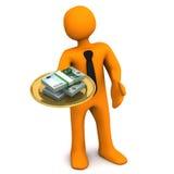 Manikin Półkowy pieniądze Zdjęcie Royalty Free