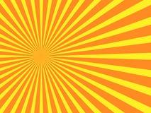 Pomarańczowy promienia tło royalty ilustracja