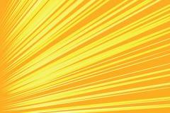 Pomarańczowy promienia wystrzału sztuki komiczki tło ilustracja wektor