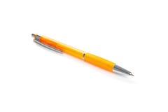 Pomarańczowy punktu pióro odizolowywający na bielu Fotografia Stock