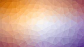 Pomarańczowy Purpurowy Triangulated tło Zdjęcie Royalty Free