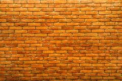Pomarańczowy rocznika ściana z cegieł Fotografia Stock