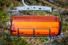 Pomarańczowy ropeway w Niskim Tatras, Sistani Zdjęcie Stock