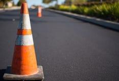 Pomarańczowy ruch drogowy rożek Zdjęcie Stock