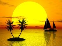 pomarańczowy słońca Obrazy Royalty Free