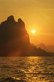 pomarańczowy słońca Fotografia Stock